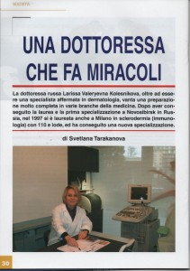 Dermatologo Larissa Kolesnikova